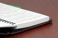 Persönliches Organisatorbuch Lizenzfreie Stockbilder