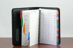 Persönliches Organisatorbuch Lizenzfreies Stockbild