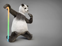 Persönlichkeitscharaktersingen Tierbärnpanda Liedmikrofon Lizenzfreie Stockfotos