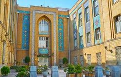 Pers projektował budynek Cudzoziemski - sprawy ministerstwo, Teheran, Iran fotografia stock