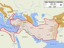 Persan détaillé de carte d'empire illustration de vecteur
