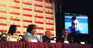 Persconferentie van film` KE-Dy ` bij Internationaal de Filmfestival van Moskou Stock Foto