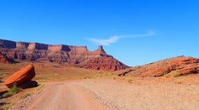 Persecución de la emoción cerca de Moab Utah foto de archivo libre de regalías