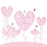 Persecución de las mariposas de los pares del árbol de amor Imagenes de archivo