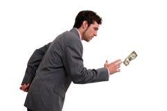 Persecución del dinero Imágenes de archivo libres de regalías