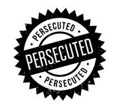 Persecuted rubber stamp. Grunge design with dust scratches. Effects can be easily removed for a clean, crisp look. Color is easily changed Royalty Free Stock Photos