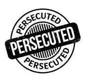 Persecuted rubber stamp. Grunge design with dust scratches. Effects can be easily removed for a clean, crisp look. Color is easily changed Stock Photography