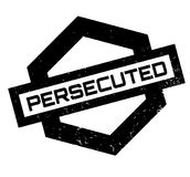 Persecuted rubber stamp. Grunge design with dust scratches. Effects can be easily removed for a clean, crisp look. Color is easily changed Stock Photo