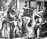 Persecution by Antiochus Royalty Free Stock Images