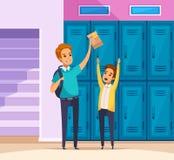 Perseguição na composição da escola ilustração do vetor