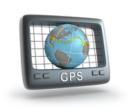 Perseguidor del mundo del GPS Imágenes de archivo libres de regalías