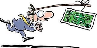 Perseguindo o dinheiro Foto de Stock Royalty Free
