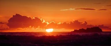 Perseguindo o Sun Imagem de Stock Royalty Free