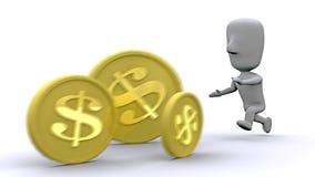 Perseguindo a riqueza Imagem de Stock Royalty Free