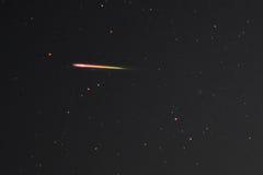 Perseid meteor i natthimlen Fotografering för Bildbyråer