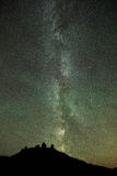 Perseid meteor shower and Milky Way Stock Image