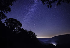 Perseid Meteor shower in Pennsylvania Stock Photo