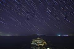 Perseid meteorregn arkivfoton