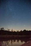 Perseid meteorregn i 2016 Arkivbilder