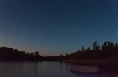 Perseid meteorregn i 2016 Royaltyfri Foto