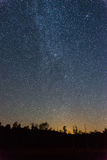 Perseid meteorregn i 2016 Arkivfoton