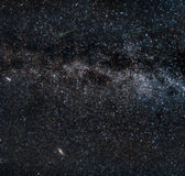 Perseid meteors on the milky way. Among a star field and the Andromeda galaxy Stock Photo