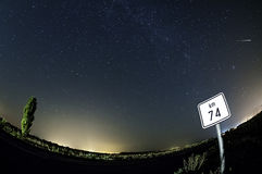Perseid shower Stock Photo