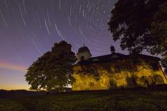 Perseids - εκκλησία του ST Matthew Στοκ Φωτογραφίες