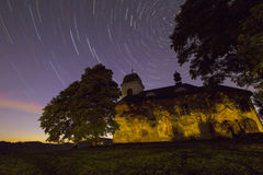 Perseids - Church of St. Matthew. Church of St. Matthew at night with Perseids Stock Photos