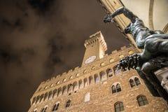 Perseo在佛罗伦萨 库存图片