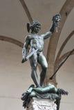 Perseo с головой статуи Медузы в Флоренсе, Италии Стоковые Изображения