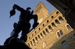 Perseo e Medusa, Benvenuto Cellini, Florença fotos de stock