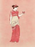 Persephone avec la grenade et le sistrum Images libres de droits