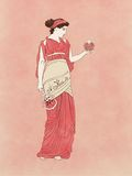 Persephone med granatäpplet och sistrum Royaltyfria Bilder
