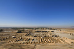 Persepolis. View on all historical complex from the hill over city.  (Old Persian: Parsa, New Persian: Takht-e Jamshid or Psrseh), city of Persians, the stock photo