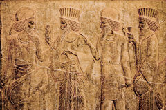 Persepolis. Ancient bas-reliefs of Persepolis Stock Photography