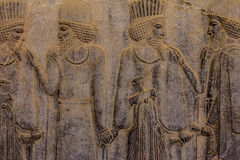 Persepolis. Ancient bas-reliefs of Persepolis Stock Photos