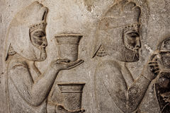 Persepolis Bas Relief. In the ancient city,Shiraz Stock Photography