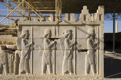 Persepolis, bass relief decoration Stock Photos