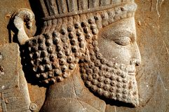 Persepolis is the capital of the ancient Achaemenid kingdom. sight of Iran. Ancient Persia. Bas-relief carved on the walls of old buildings Stock Photos