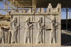 Persepolis, décoration basse d'allégement Photos stock