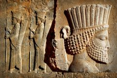 Persepolis es la capital del reino antiguo del Achaemenid vista de Irán Persia antigua imagen de archivo libre de regalías