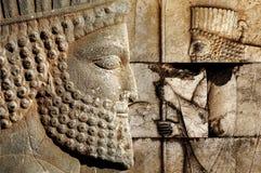 Persepolis est la capitale du royaume antique d'Achaemenid vue de l'Iran Perse antique photographie stock