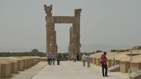 Persepolis grand gate stock footage
