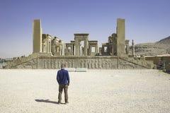 Persepolis i nord av Shiraz, Iran Det har lett till dess beteckning som en UNESCOvärldsarv Arkivbilder