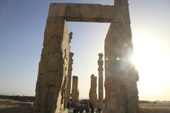 Persepolis , Iran. Persepolis was the ceremonial capital of the Achaemenid Empire. It is situated in the plains of Marvdasht, encircled by southern Zagros