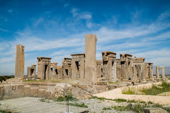 Persepolis, Iran. Persepolis is situated 60 km northeast of the city of Shiraz in Fars Province, Iran.  UNESCO declared the ruins of Persepolis a World Heritage Stock Photography