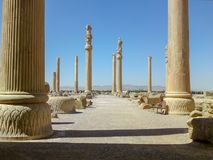 Persepolis, Iran: Persepolis was the ceremonial capital of the Achaemenid Empire. Ca. 550 330 BC It is situated 60 km northeast of the city of Shiraz in Fars stock images