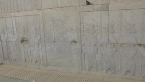 Persepolis relief wall stock footage