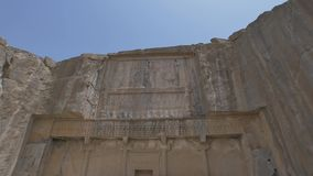Persepolis royal tombs stock video